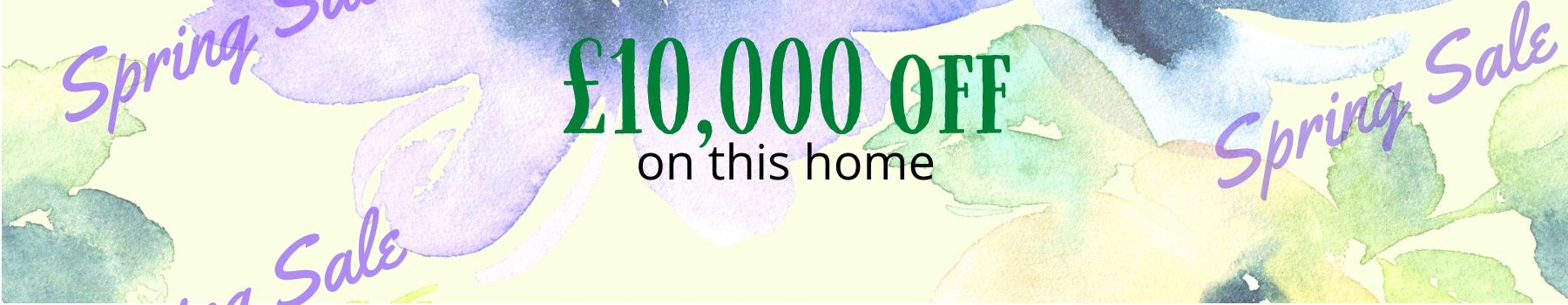 10000 off listed price of this home banner spring sale