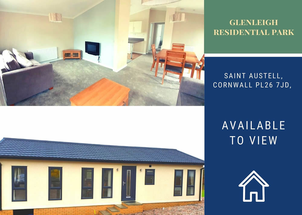 Glenleigh Residential Park Cornwall - Park Home to View Banner