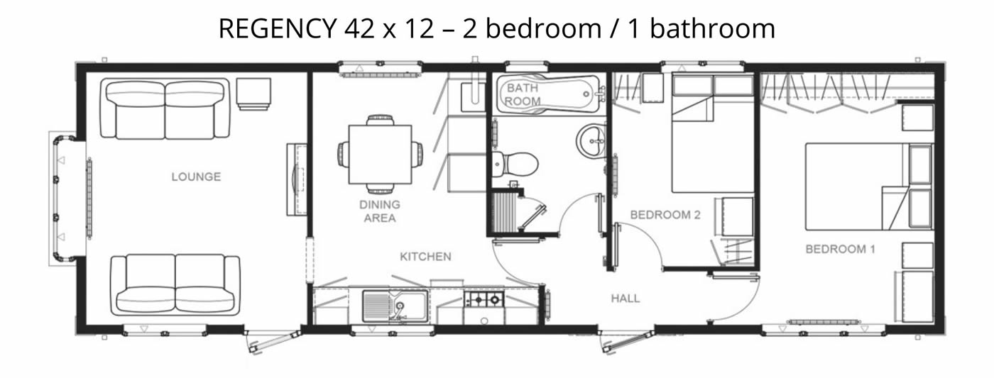 Regency 42 x 12 Floor Plan